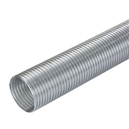 Manrose Silver Semi Rigid Hose (H)112mm