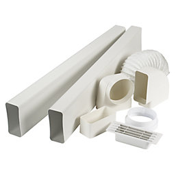 Manrose V7227 Cooker Hood Flat Channel Vent Kit