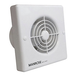 Manrose QF100T Bathroom Extractor Fan with Timer (D)98mm