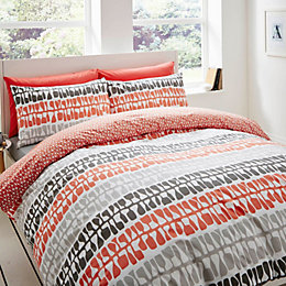 Lotta Jansdotter Follie Patterned Coral King Size Bed