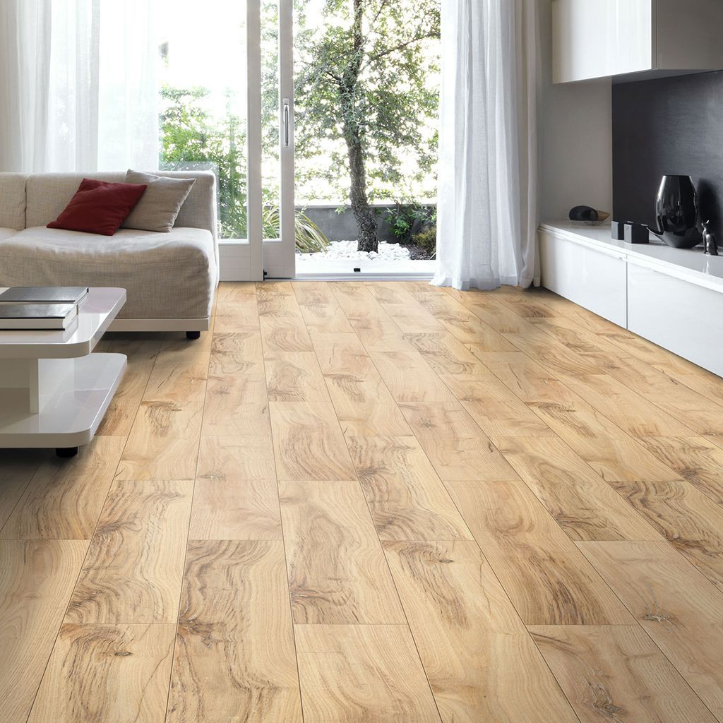 brown hickory effect laminate flooring 2m pack. Black Bedroom Furniture Sets. Home Design Ideas
