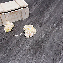 Charcoal effect Wood finish Luxury vinyl click flooring