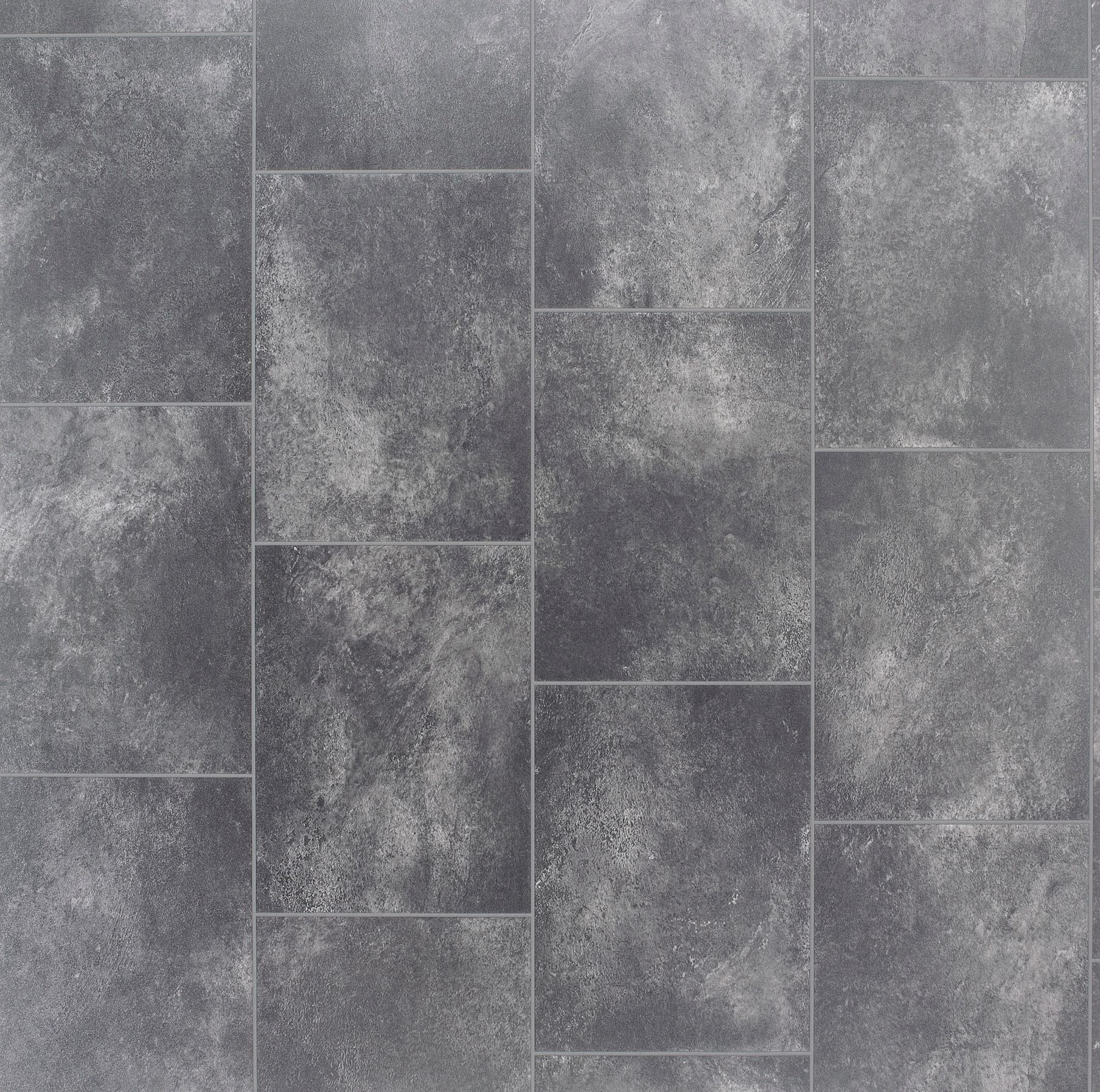 Grey Slate Tile Effect Vinyl Flooring 4 M 178 Departments Diy At B Amp Q