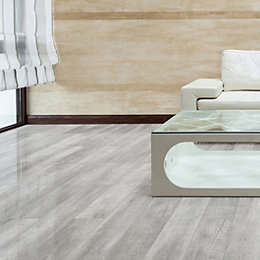 Grey Oak effect Laminate flooring 2.13 m² Pack