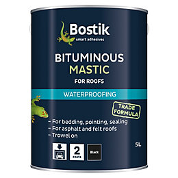 Bostik Black Waterproofing Bituminous Mastic 5L