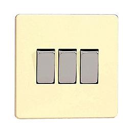 Varilight 10A 2-Way Triple White Chocolate Gloss Light