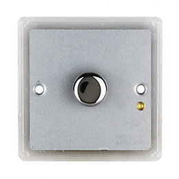 Colours Single Polished Chrome Switch