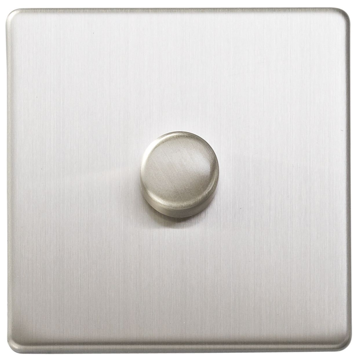 Varilight 2 Way Single Brushed Silver Effect Dimmer Switch
