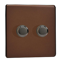 Varilight 2-Way Double Mocha Satin Dimmer Switch
