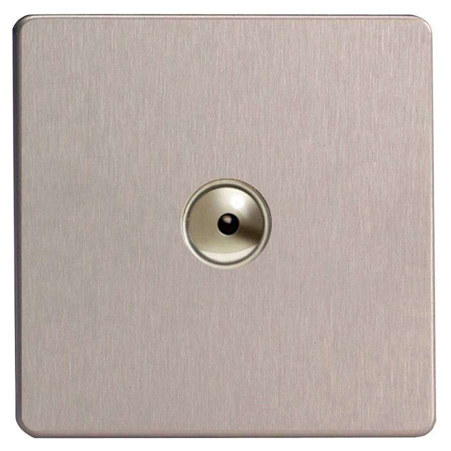 Varilight 1 Way Single Brushed Silver Effect Remote Control Dimmer Gang 4 Light Switch Departments Diy At Bq