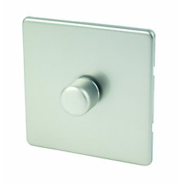 Varilight 2-Way Single Satin Silver Effect LED Dimmer