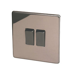 Varilight 10A 2-Way Double Polished Bronze Light Switch