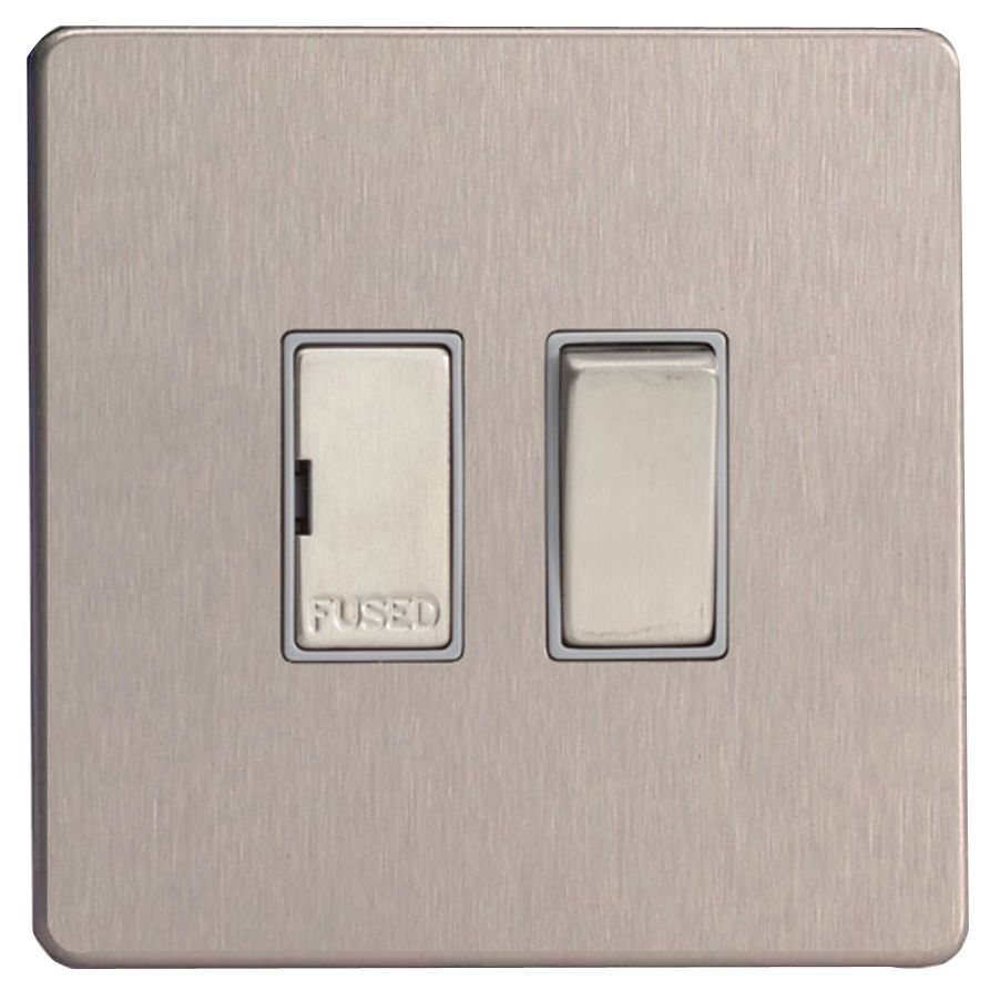 Varilight 13a Double Pole Switched Fused Connection Unit Junction Box Departments Diy At Bq