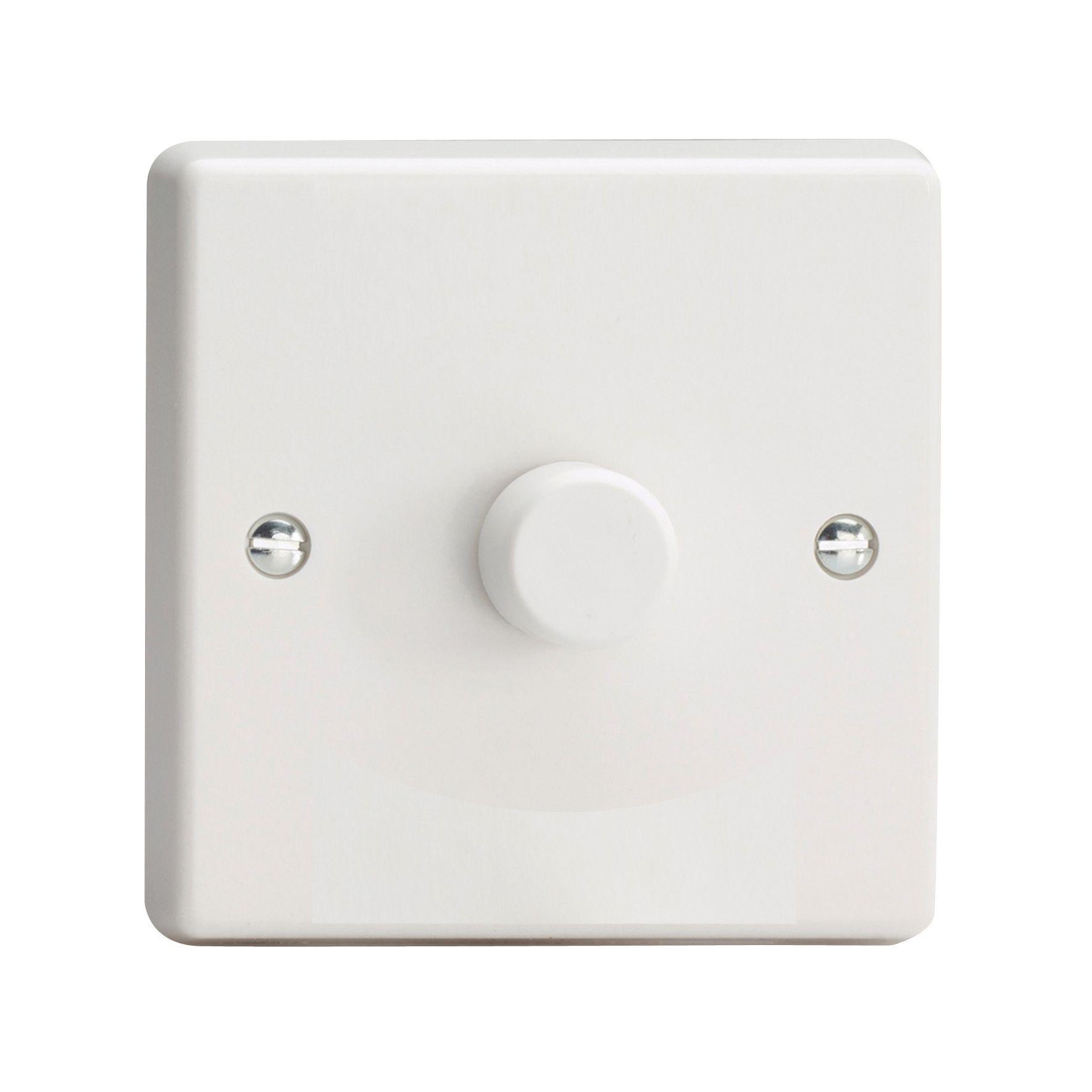 varilight v-com 2-way single white plastic led dimmer switch, Wiring diagram