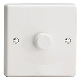 Varilight 2-Way Single White Plastic Dimmer switch