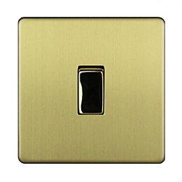 Varilight 10A 2-Way Single Brushed Gold Effect Light