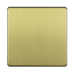 Varilight Single Brushed Brass Effect Blanking Plate