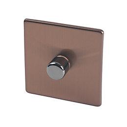 Varilight 2-Way Single Brushed Bronze Dimmer Switch