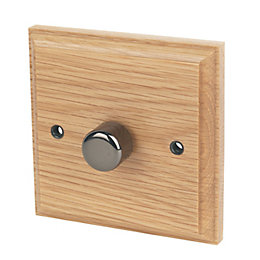 Varilight 2-Way Single Oak Dimmer switch