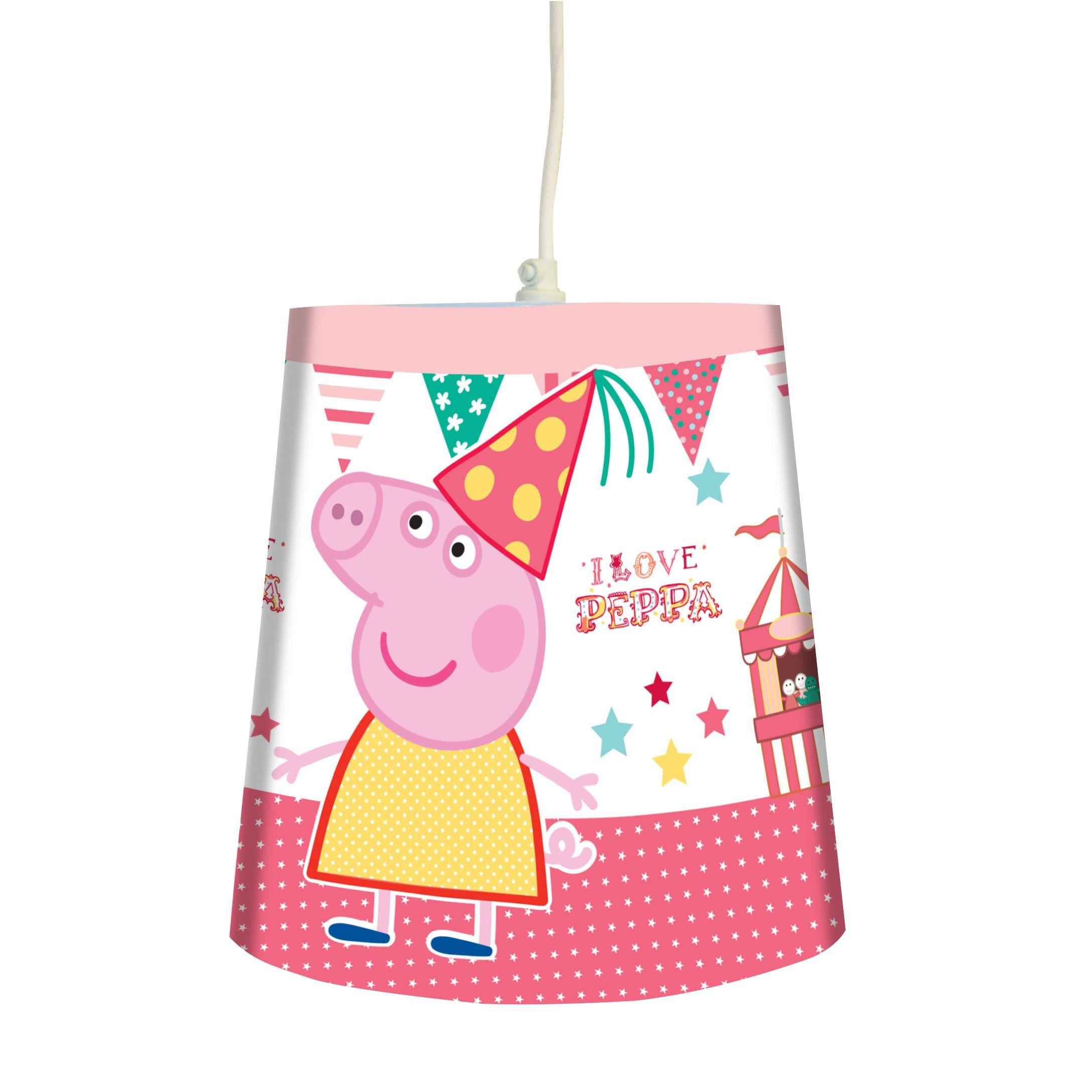 Pink peppa pig fun fair light shade d240mm departments diy at bq aloadofball Choice Image