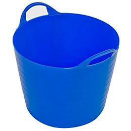 Strata Blue 40L Plastic Flexi Tub