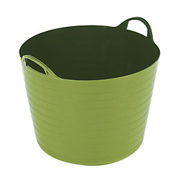 Strata Flexi Lime Green 40L Plastic Tuff Tub