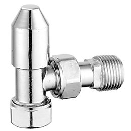 Pegler Yorkshire Chrome effect Angled Thermostatic radiator valve
