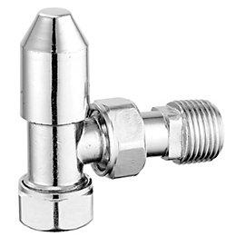 Pegler Yorkshire Chrome effect Angled Thermostatic radiator valve