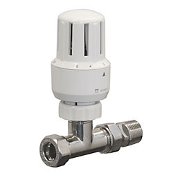 Pegler Yorkshire White Chrome Effect Straight Thermostatic