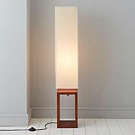 Cargo Dark brown & cream Floor lamp