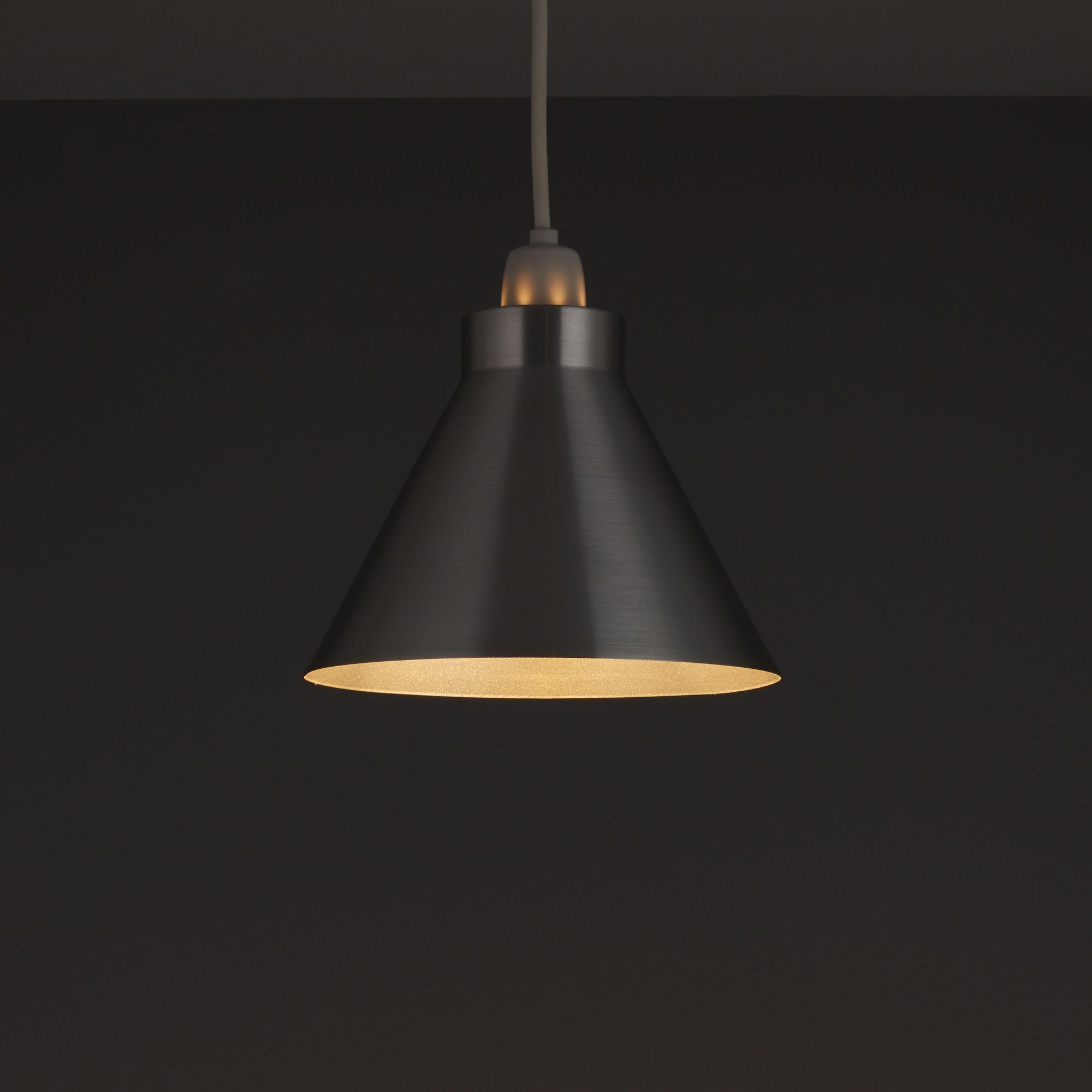 Aluminium Cone Pendant Light Shade (D)190mm