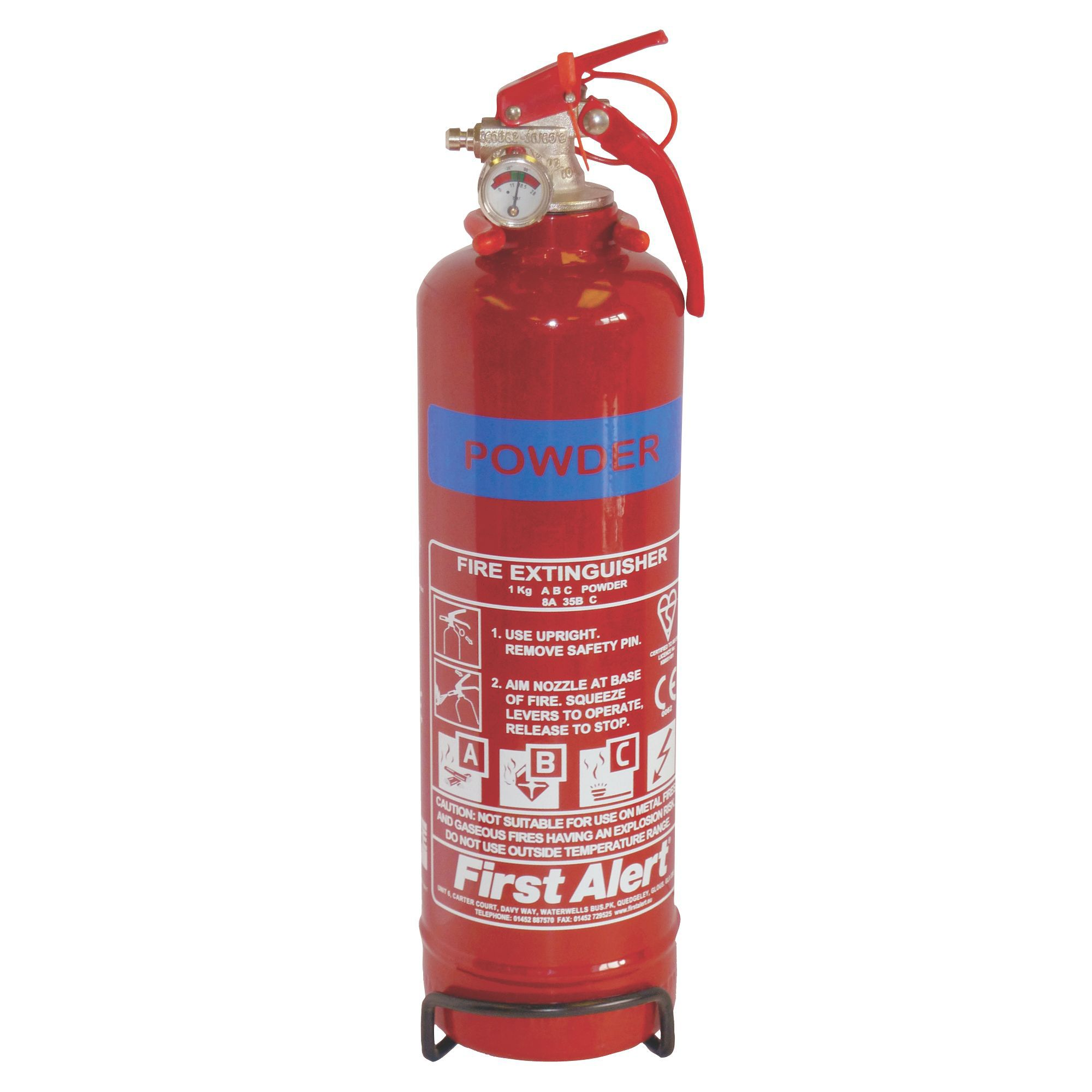 First Alert Powder Fire Extinguisher 1kg Departments