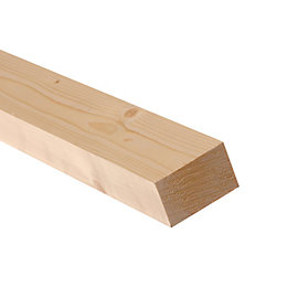 Smooth planed timber (T)34mm (W)70mm (L)2400mm Pack of