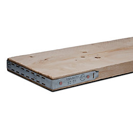 Scaffold board (T)38mm (W)225mm (L)2400mm Pack of 3
