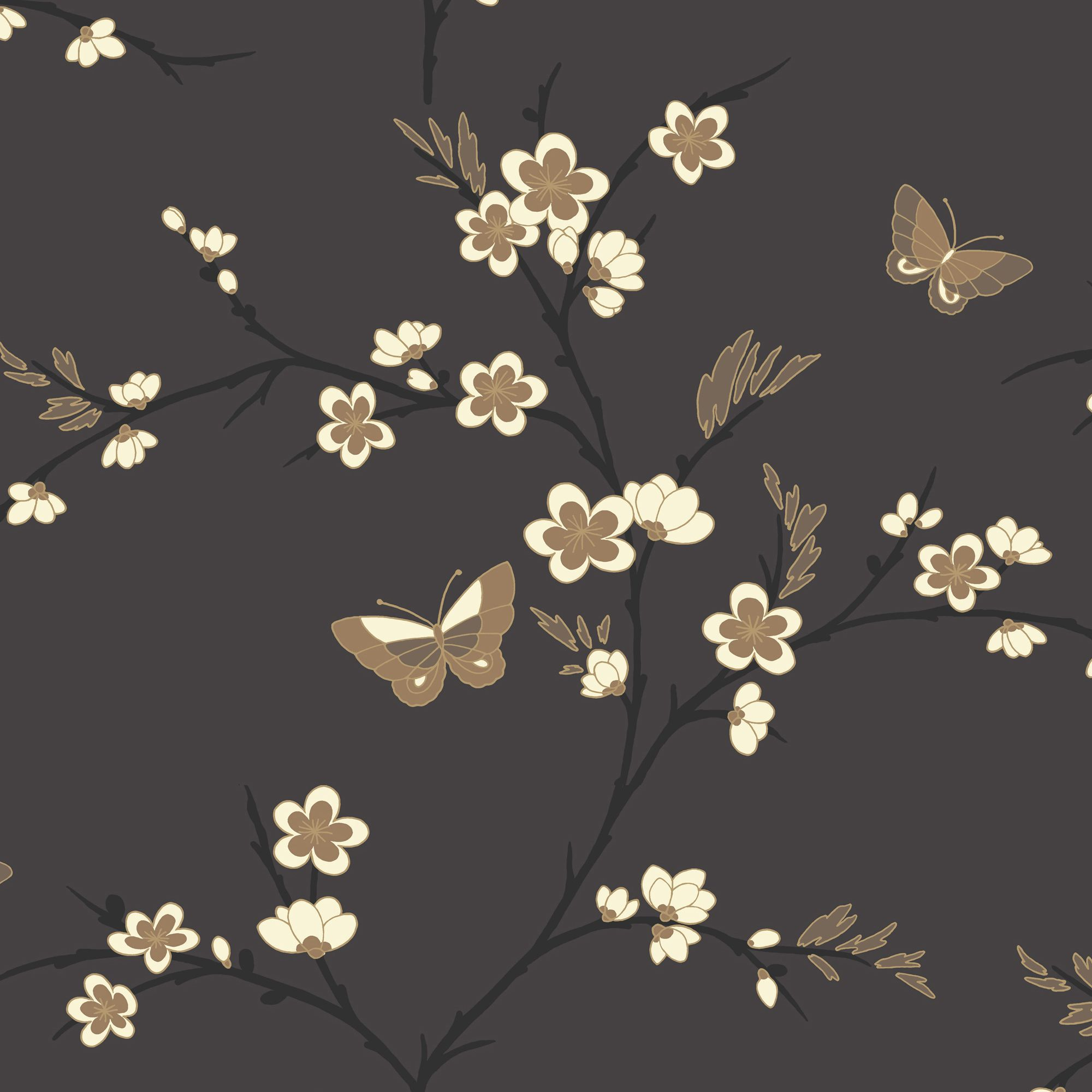K2 Spring Beige Cream Amp Grey Blossom Wallpaper