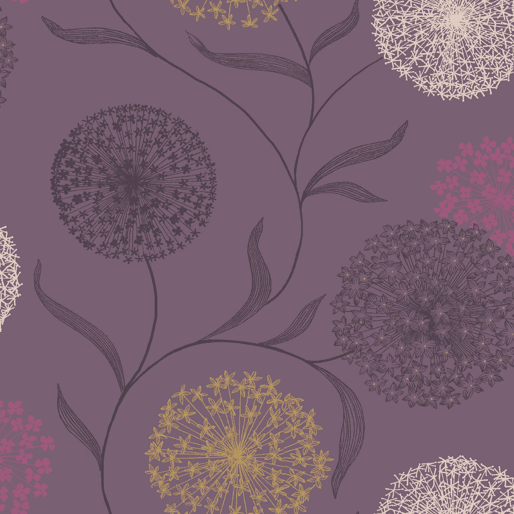 Starburst Grey Amp Purple Wallpaper Departments Diy At B Amp Q