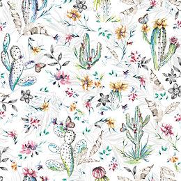 K2 Multicolour Cactus Matt Finish Wallpaper