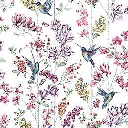 Statement Birds & Floral Matt Finish Wallpaper