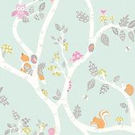 Holden décor Teal Animals Glitter Wallpaper