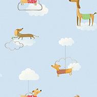 Holden décor Blue Dogs Wallpaper