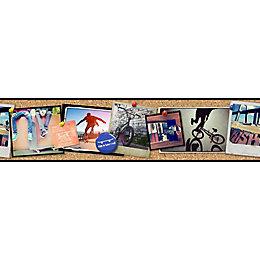 Paste The Paper Skater Multicolour Photographic Border