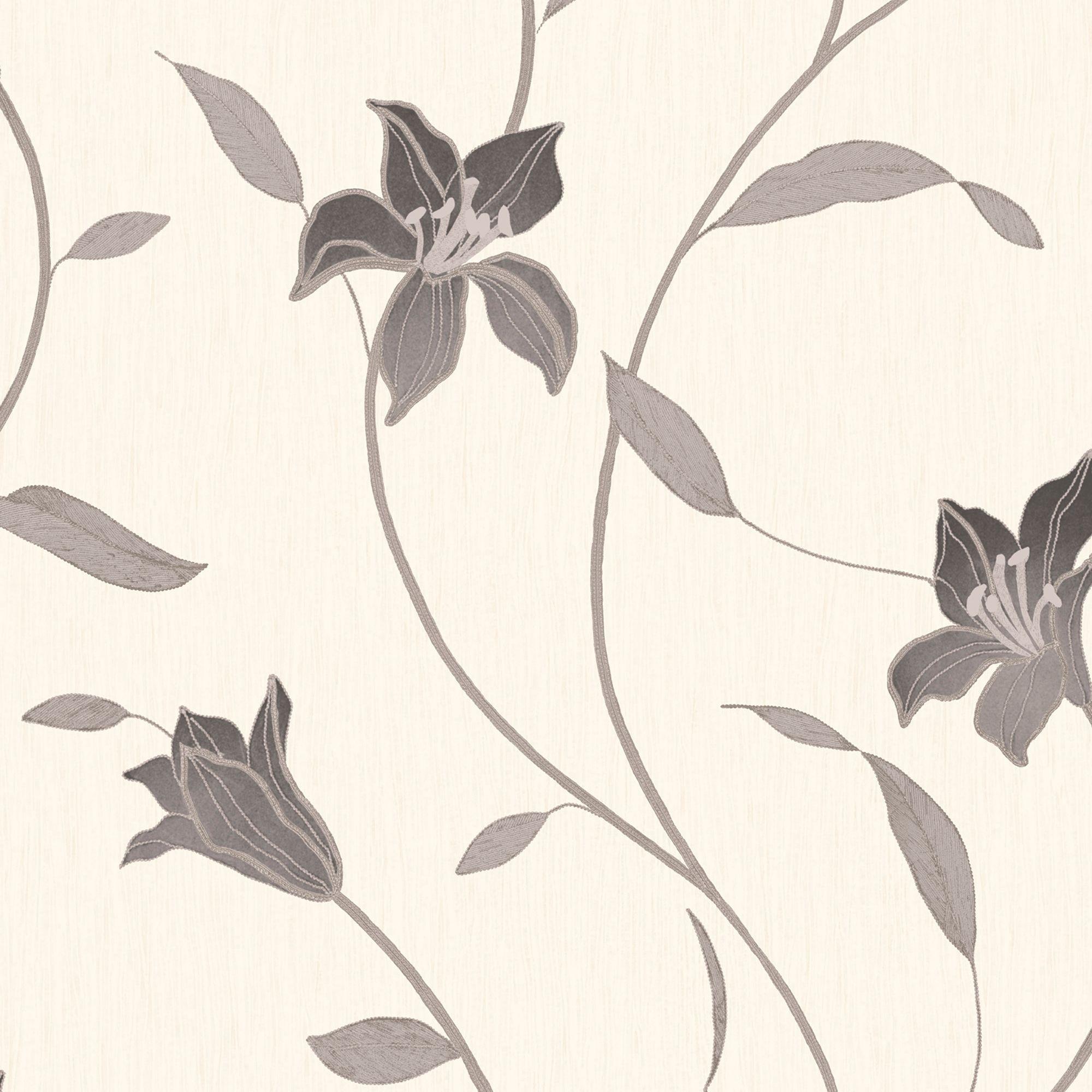 Statement Loretta Trail Black Floral Wallpaper Departments Diy At Bq