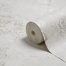 Opus Roselea Soft grey Metallic Wallpaper