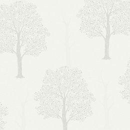 Opus Ornella Grey Trees Glitter effect Wallpaper