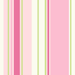 Holden Décor Paige Green & Pink Striped Wallpaper