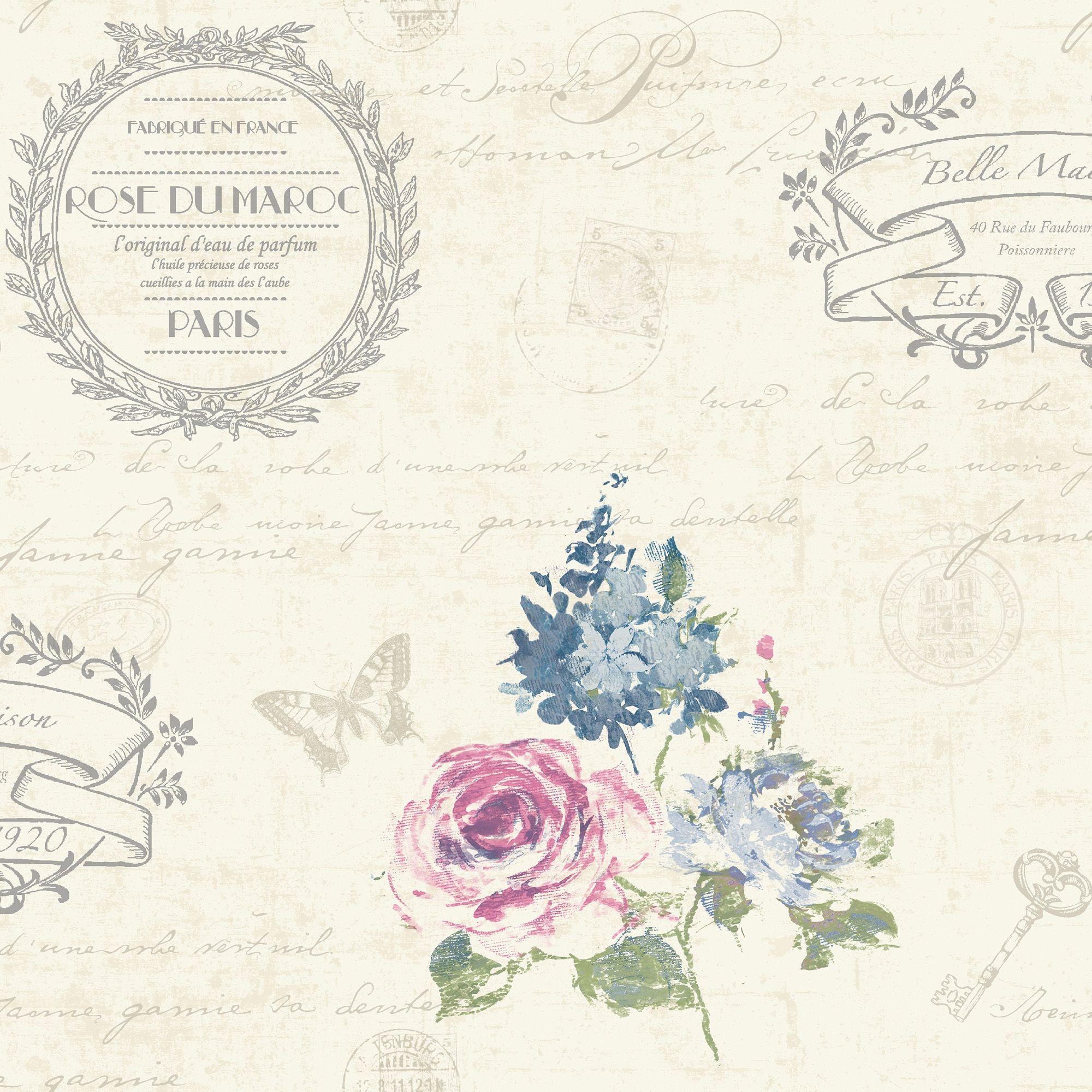 Kitchen Wallpaper B And Q: K2 Francelina Cream Floral Wallpaper