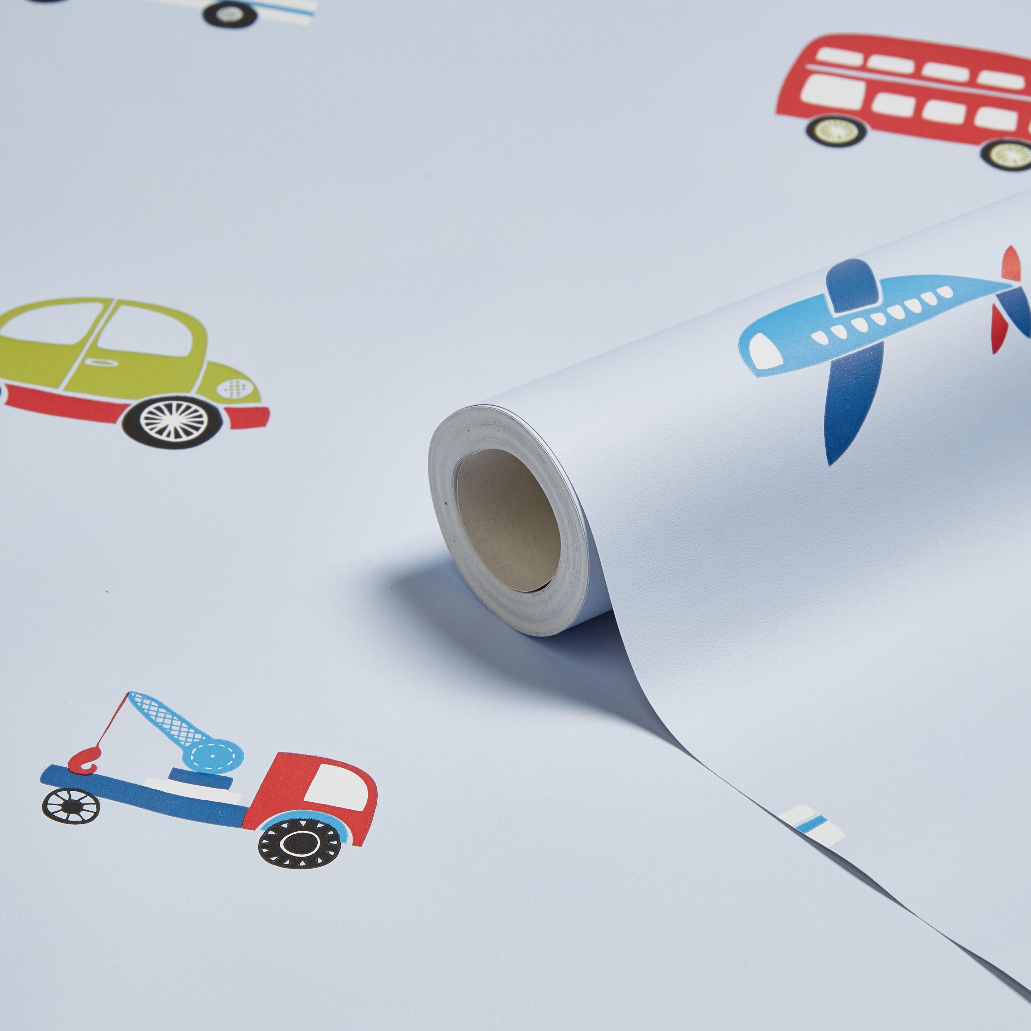 Blue, Green U0026 Red Traffic Childrenu0027s Wallpaper | Departments | DIY At Bu0026Q.
