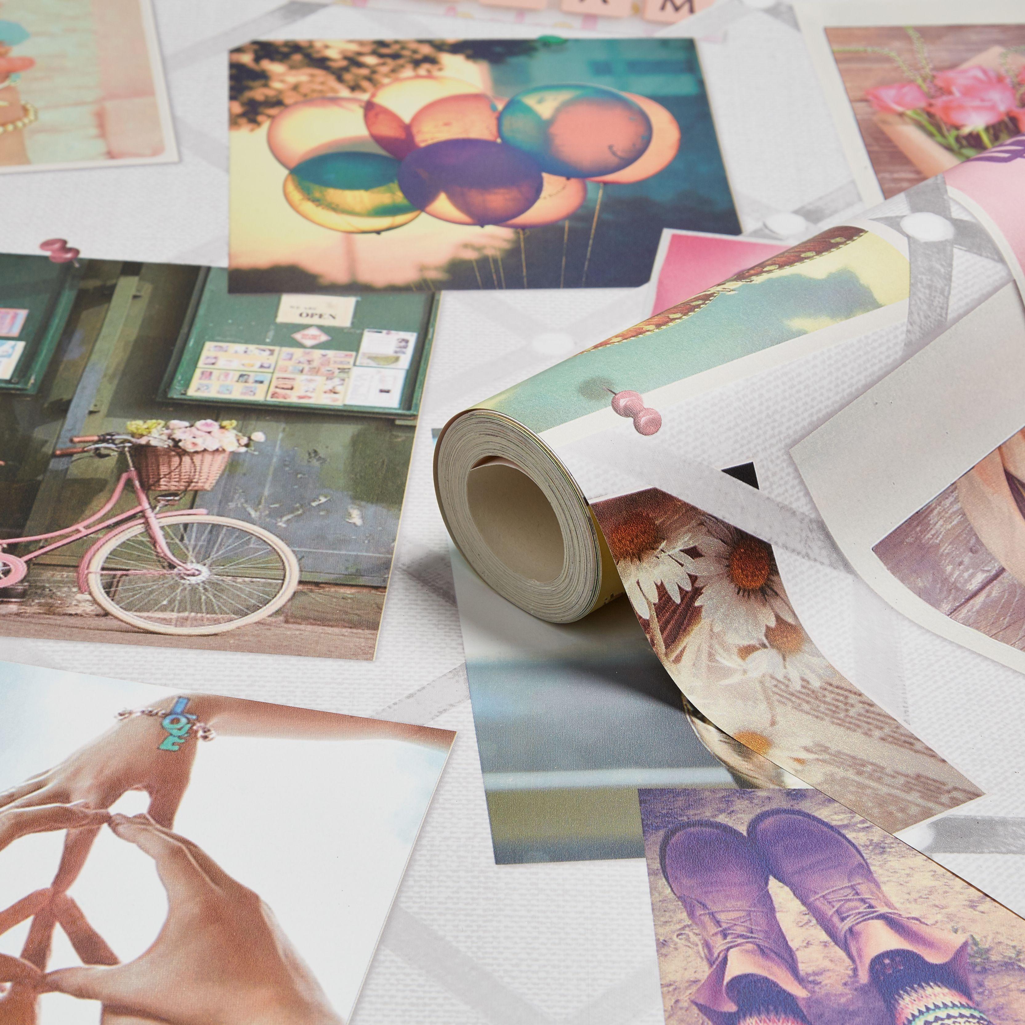 kids colours pinboard wallpaper departments diy at b q. Black Bedroom Furniture Sets. Home Design Ideas