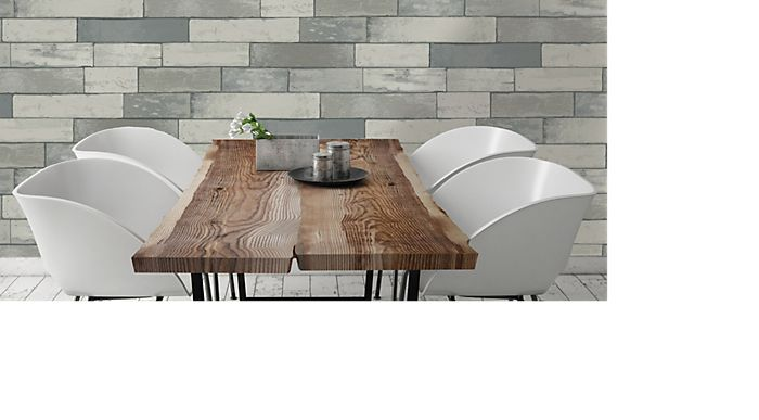 K2 silver effect wood panel wallpaper