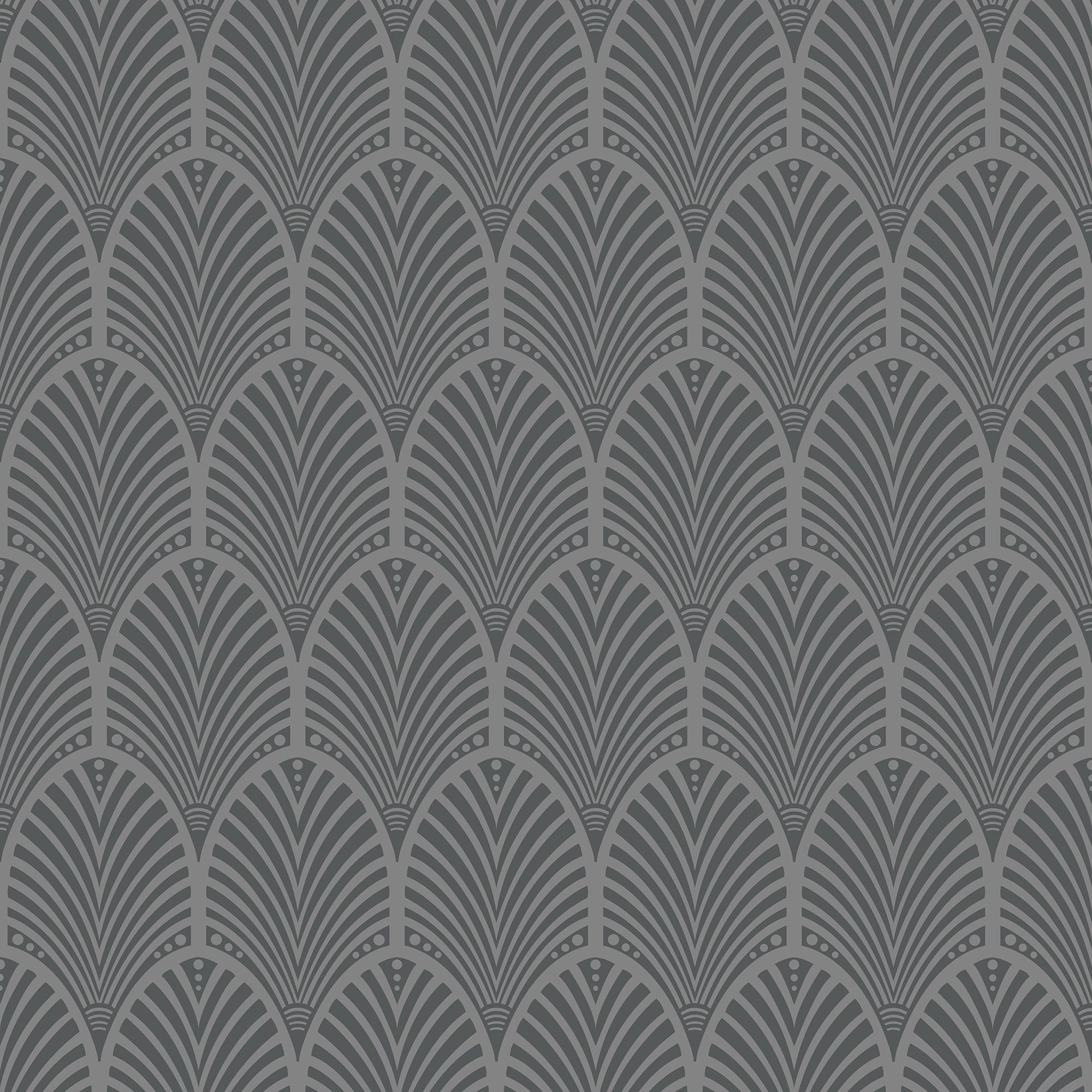 Grey Art Deco Peacock Wallpaper Departments Diy At B Amp Q